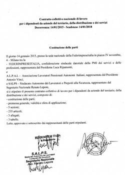Contratti collettivi nazionali di lavoro stipulati for Ccnl terziario distribuzione e servizi
